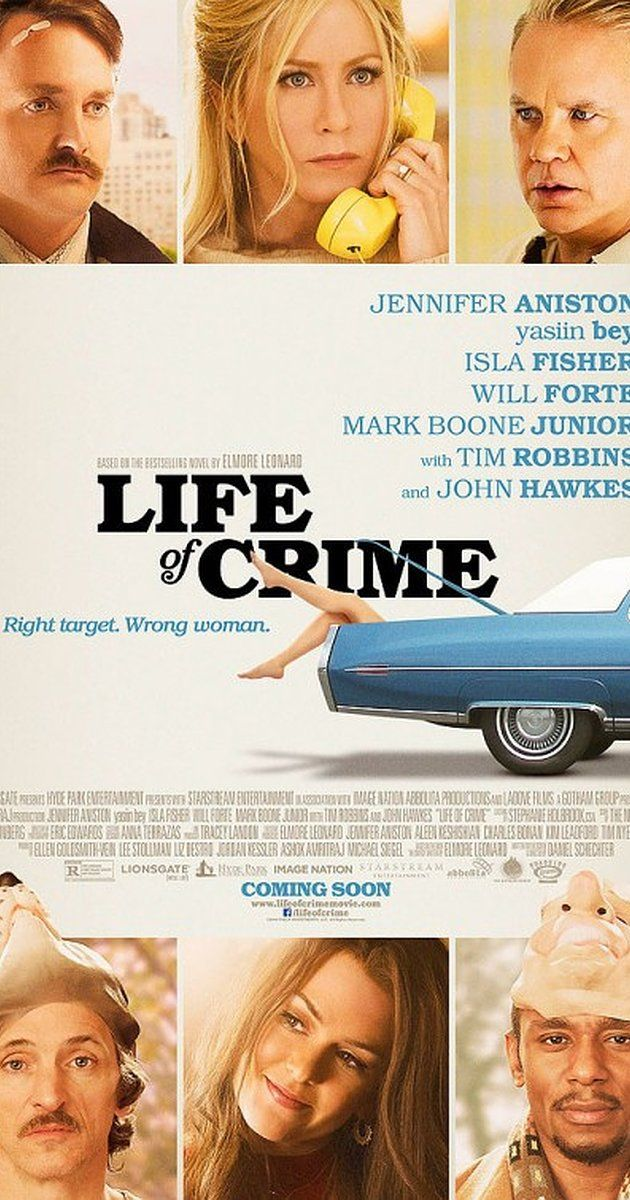 LIFE OF CRIME. Standard Jennifer Aniston-does-indie flick. Forgettable, despite being a Jackie Brown prequel. 2.5 stars