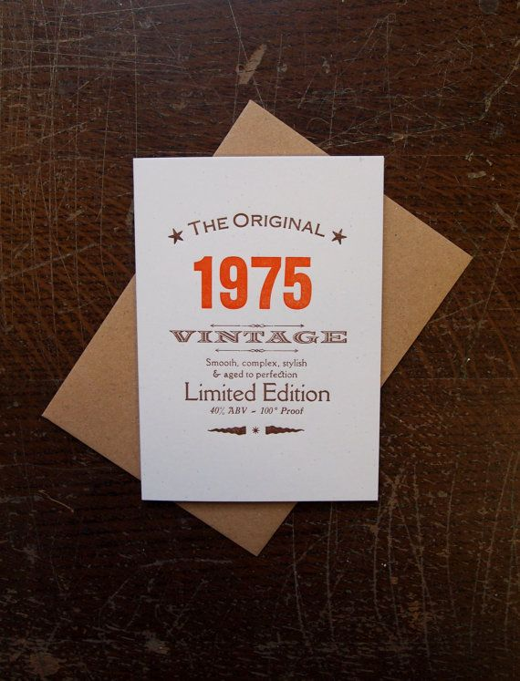 40th Fortieth Forties 1975 1974 birthday by TheSmallprintCompany