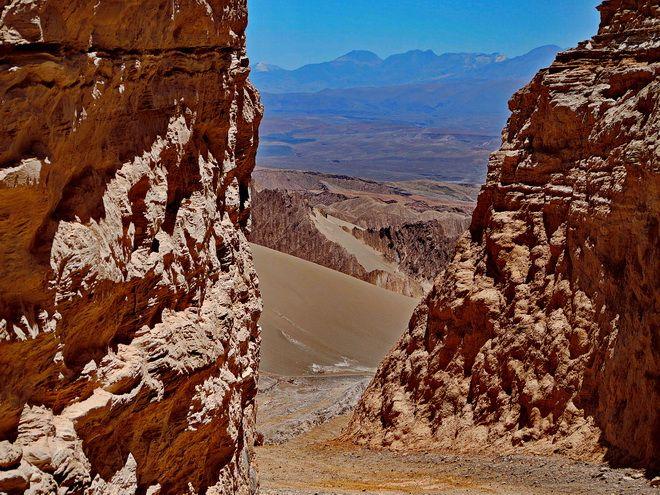 Views out to the mountains of Bolivia - Atacama Desert