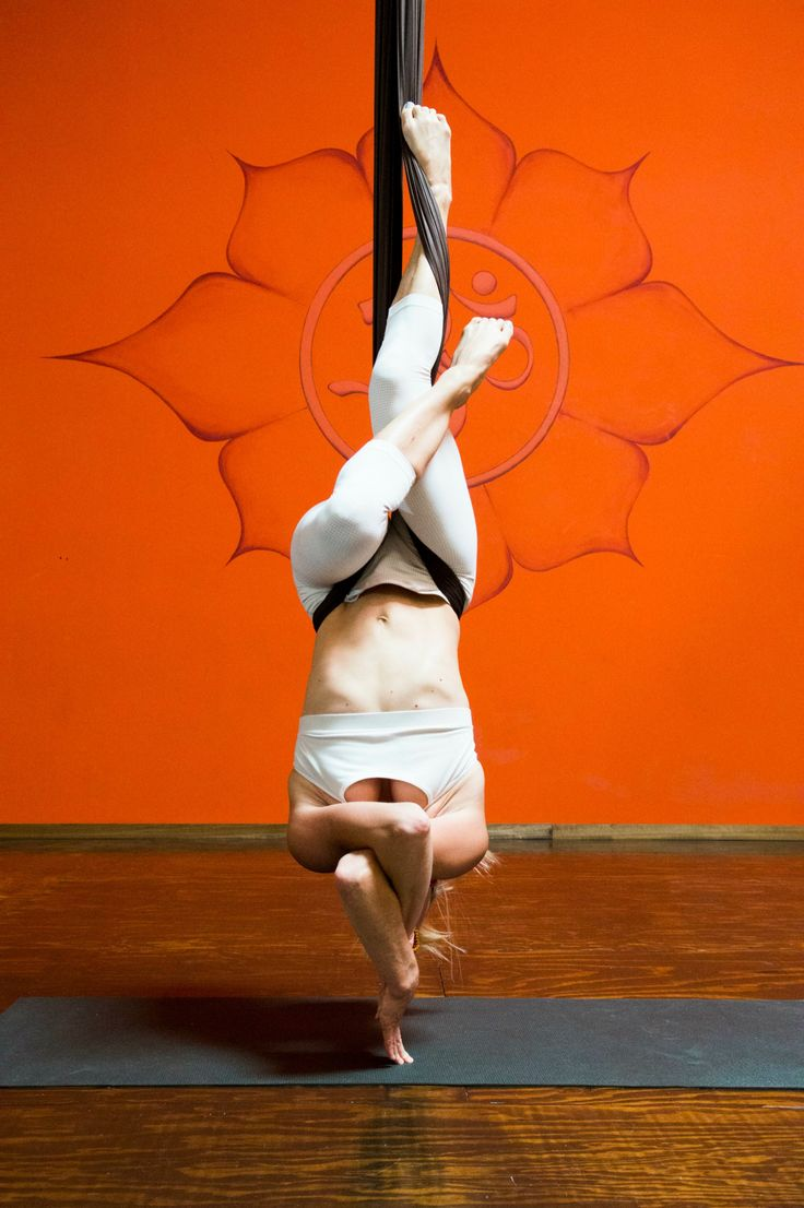 Yoga. Intertwined in aireal (aerial) yoga #yoga #aerial #hammock                                                                                                                                                      More