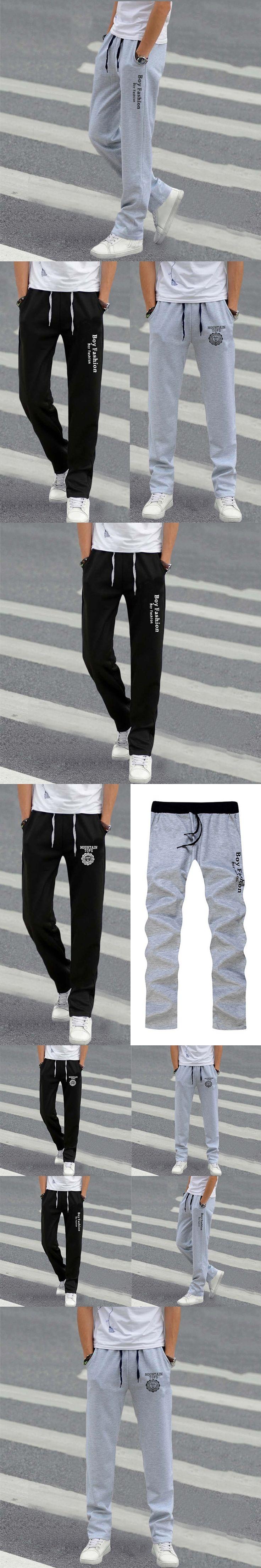 2017 Summer Street Fashion Men Elastic Waist Pants Men's All-match Loose Solid Soft Cotton Casual Straight Plus Size Long Pants