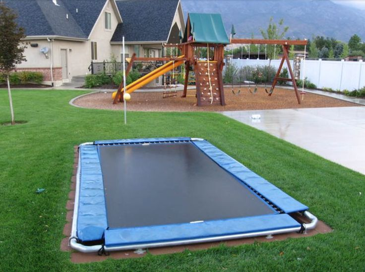 Safe way to have a trampoline..