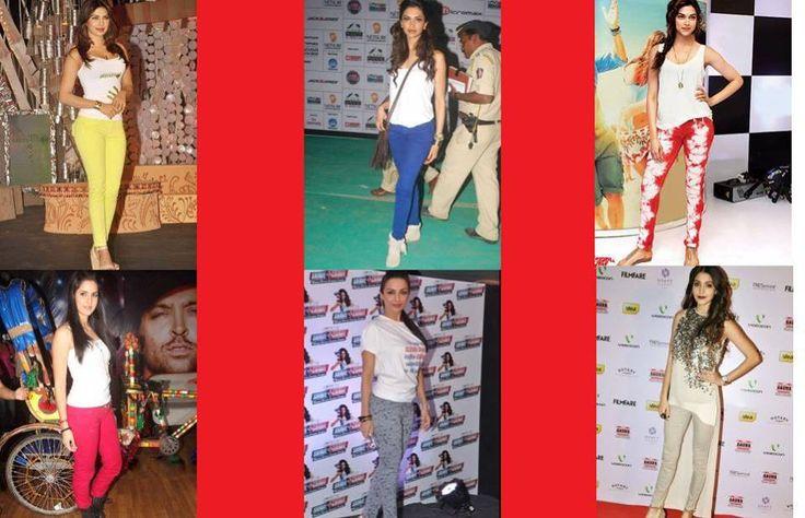 Bollywood Celebrity love colored denims  http://www.xplorfashion.com/p/hollywood.html