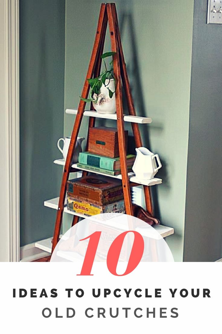 Discover 10 amazing ideas for upcycling old crutches into nice pieces of design for your home décor! You would never imagine that crutches could be upcycled into tables, chairs or even shelves! Don't throw them away, reuse them!