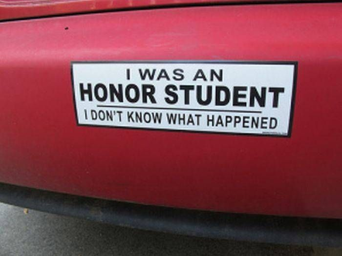 30 of the funniest bumper stickers on the open road