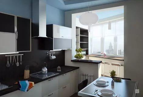 """Результаты поиска по запросу """"совмещение балкона и кухни"""" в Яндекс.Картинках"""