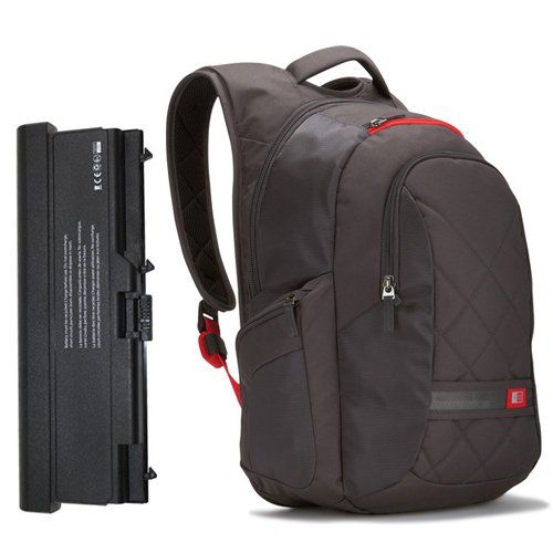 Case Logic Laptop Backpack and 6 Cell Battery Pack for ...