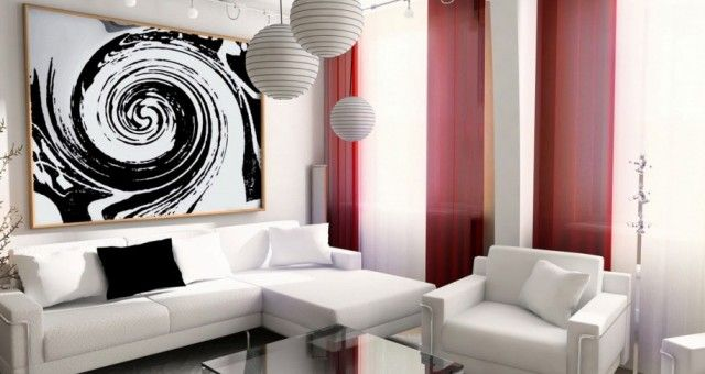 Tiny Living Room Black White ~ http://makerland.org/the-useful-tiny-living-room-ideas/