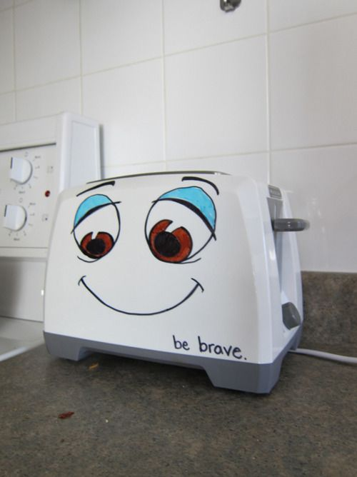 the brave little toaster-the only way I'll become a morning person is if I have to see this every day:)