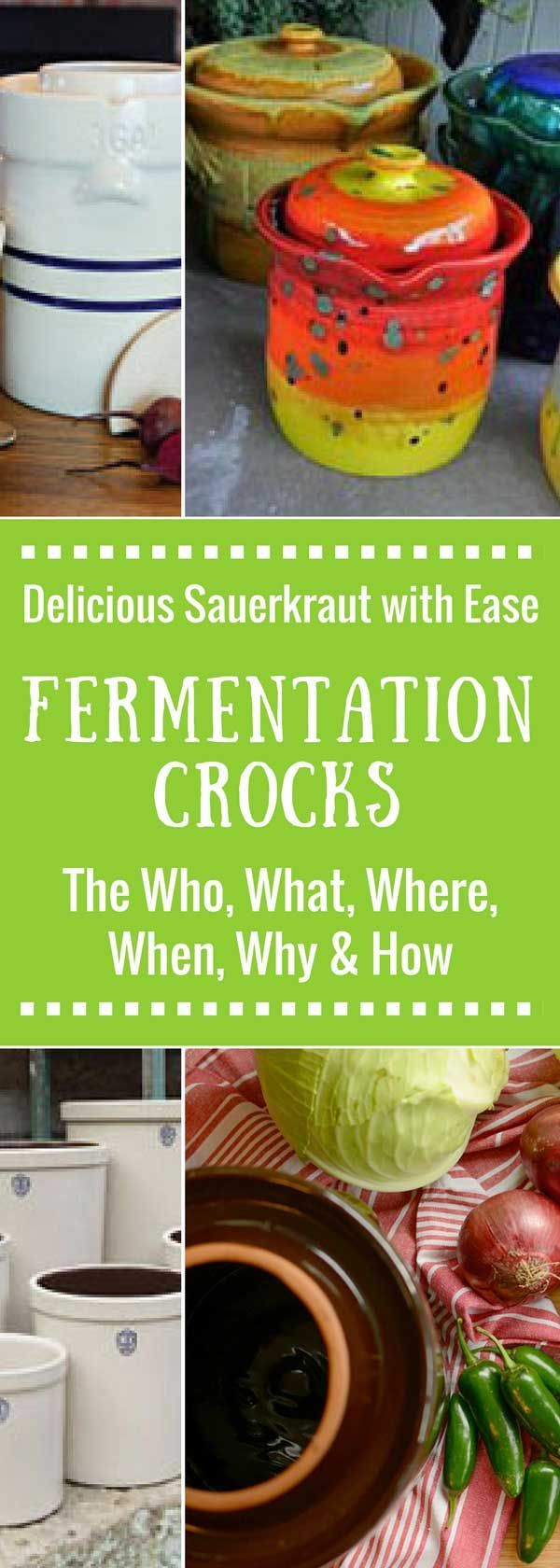 Fermenting crocks: water-sealed vs open crock. Best brands, How to use, Best size for your needs. Tips to ferment your sauerkraut with ease.