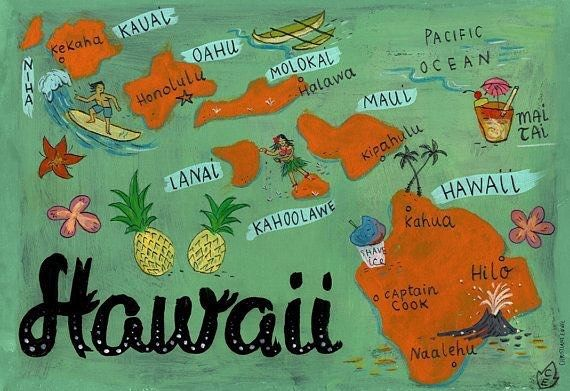 Aloha! It's a balmy 82 degrees and sunny here in Hawaii & we hope it's just as nice wherever you are! Fun Hawaii Fact: Did you know state of Hawaii consists of eight main islands: Niihau Kauai Oahu Maui Molokai Lanai Kahoolawe and the Big Island of Hawaii? Each island has its own unique flavor so if you can try em all! Illustration by Biljana Kroll  #hawaii #hawaiilife #aloha #burlesque #hawaiiburlesquefestival #burlesquedancer #hawaiistyle #hawaiiburlesque #hawaiiburlesk