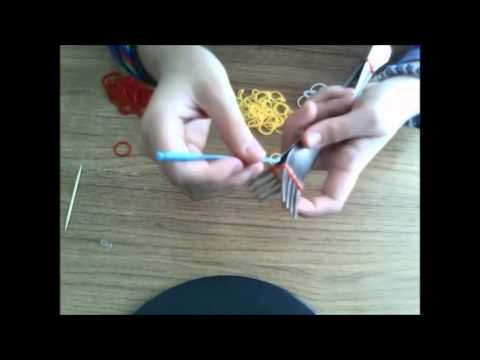 Bratara Hexafish din gume, elastice de prins parul / homemade, rubber gu...