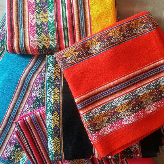 Peruvian fabrics ethnic design boho chic Soho decor Inca