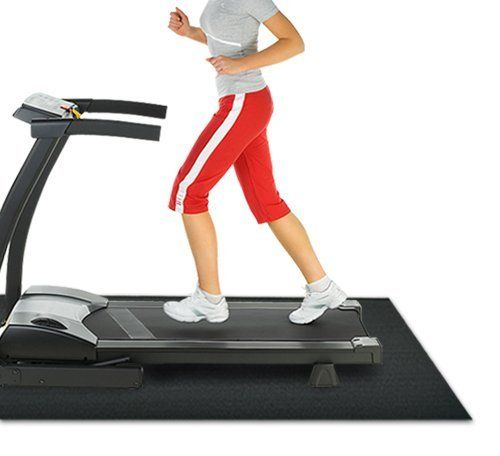 Rubber Cal Treadmill Mat, Black, 3/16-Inch x 4 x 7.5-Feet -- Continue to the product at the image link.