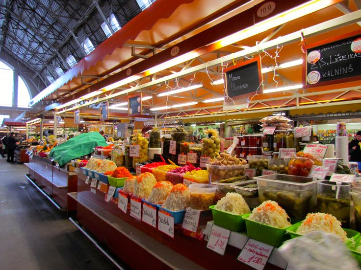 A place where to get great local produce - Riga Central Market.