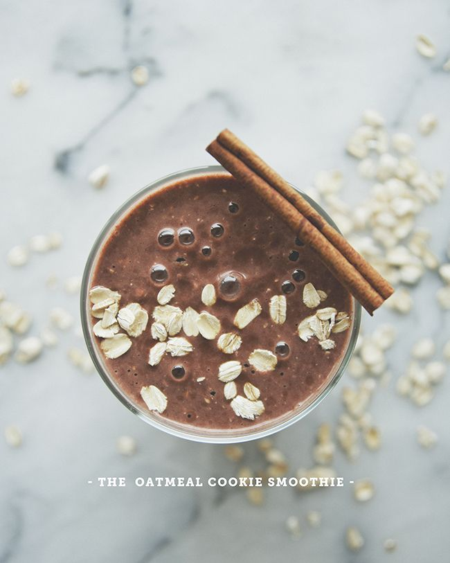 Oatmeal Cookie Smoothie // Back To School With Ingrid Nilsen