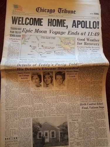 Chicago Tribune July 24,1969  Welcome Home, Apollo!  Sections 1,1A,1B,2,2A and 3