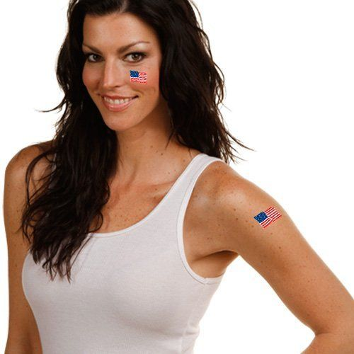 """Olympics USA Olympics 4-Pack Waterless Temporary Tattoos by Football Fanatics. $3.95. Made in the USA. Team logo and colors. Each tattoo is approximately 1"""" x 1 1/4"""". Easy to apply and remove. Officially licensed US Olympic product. USA Olympics 4-Pack Waterless Temporary TattoosFour cut-out temporary tattoosTeam logo and colorsOfficially licensed US Olympic productEach tattoo is approximately 1"""" x 1 1/4""""Easy to apply and removeMade in the USAFour cut-out temporary tattoosTeam l..."""