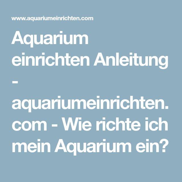 die besten 25 aquarium einrichten ideen auf pinterest aquarium einrichtung live aquarium und. Black Bedroom Furniture Sets. Home Design Ideas