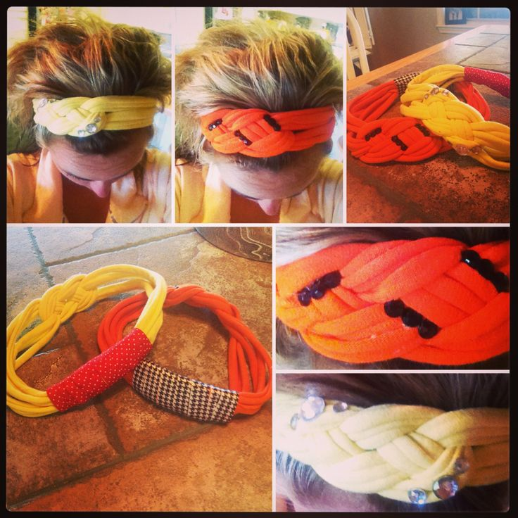 DIY headbands from tshirts.