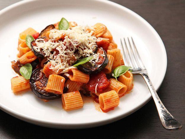 Sicilian-Style Pasta with Eggplant, Tomatoes, and Ricotta Salata (Pasta Alla Norma)