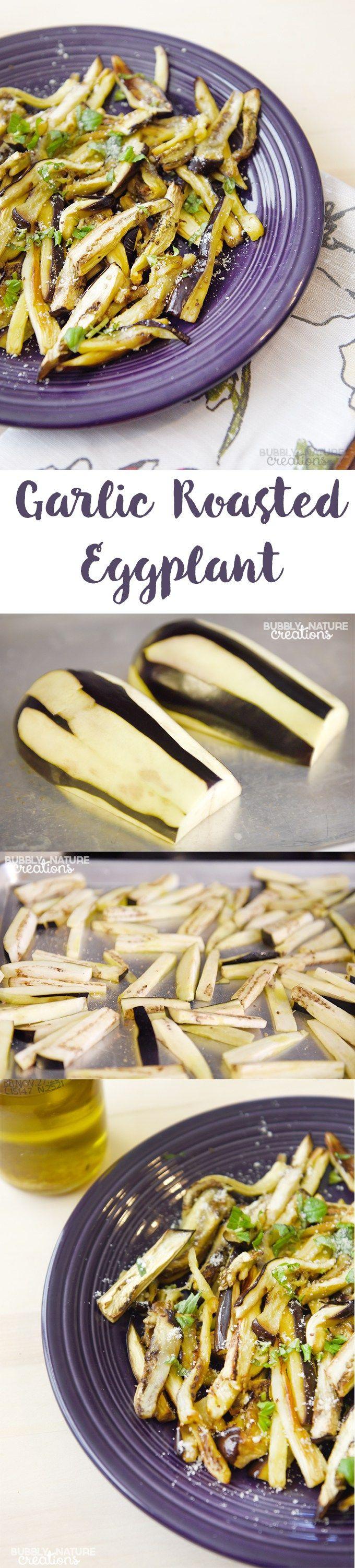 Garlic Roasted Eggplant - Sprinkle Some Fun