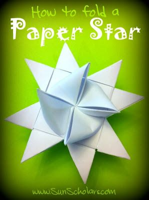 How to Fold a Danish Paper Star Christmas ornament. Also known as a  Advent star, Danish star, Froebel star Nordic star, Pennsylvanian star, Polish star, or Swedish star,