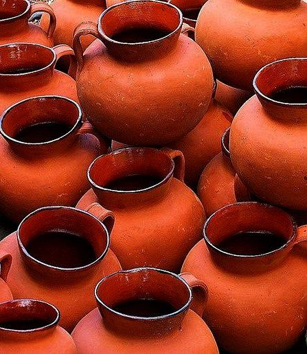 Burnt Orange Clay Pots