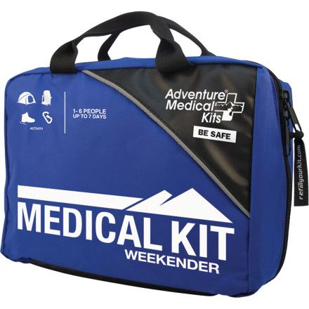 Bring the Adventure Medical Weekender First Aid Kit along on your next short adventure. The Weekender is not only packed with essentials to handle basic emergencies—wound care, burns, blisters, and sprains, to name a few—but presents all of these materials in a simple, easy-to-find fashion. Instructions are included with all the supplies, enabling even a novice to quickly and effectively handle an emergency. The Weekender is designed to support groups of up to 7 people for a short trip.