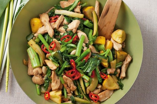 Use the best of Spring produce to create this delicious chicken stir-fry meal.