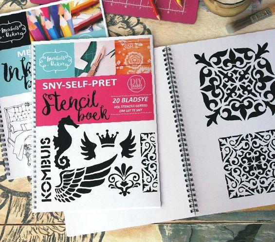 n Boek vol self-sny stencils! <3