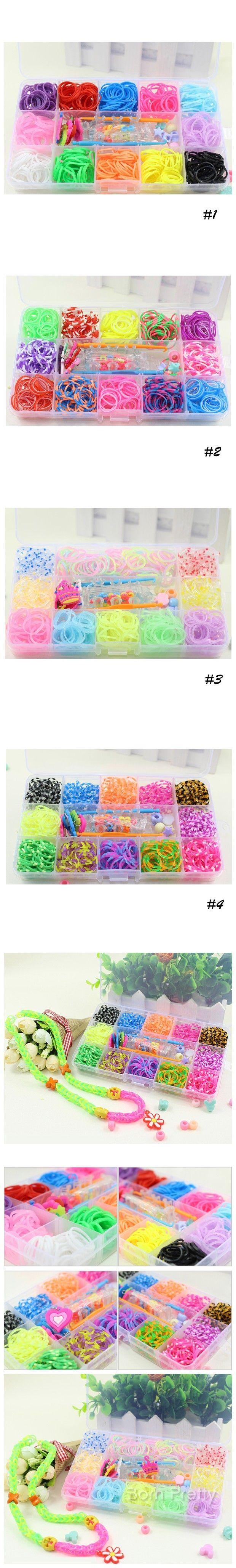 $9.19 Colorful Mini Rubber Hair Band Fashionable Knitting Bracelete DIY - BornPrettyStore.com