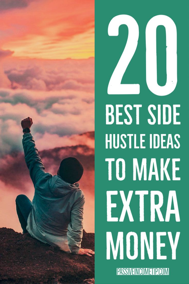 20 Best Side Hustle Ideas to Make Extra Money in 2020 | Extra money. Real money online. Earn money fast