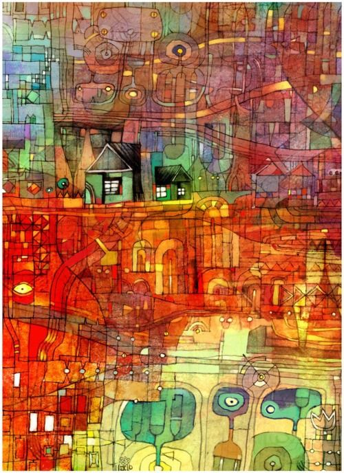This image is from a blog with lots of images but doesn't say who the artist is. Don't know the medium too.