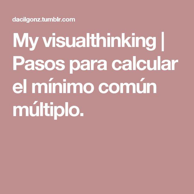 My visualthinking | Pasos para calcular el mínimo común múltiplo.