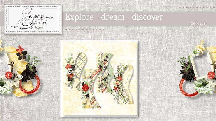 Explore - dream - discover borders by Jessica art-design