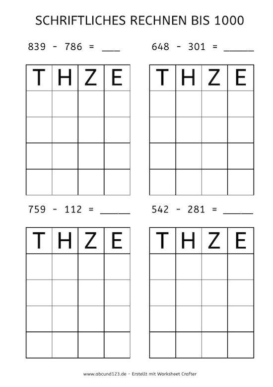 72 besten Mathe Klasse 3 Bilder auf Pinterest | Mathematik, Klasse ...