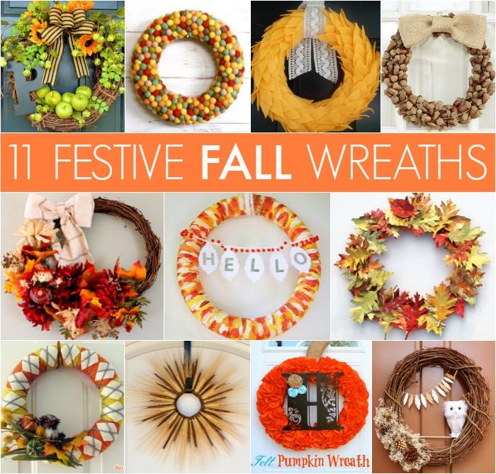 You can display these wreaths in September, October, AND November.