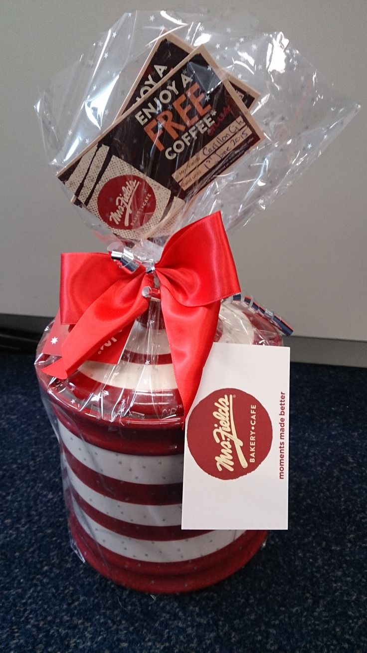 Cookie jar and vouchers from Mrs Fields in Carillon Arcade.