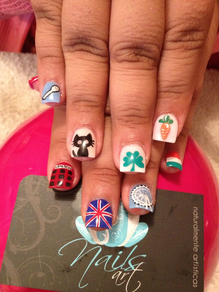 Acrylic Nails One Direction