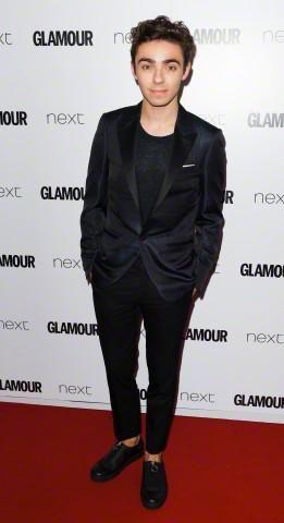 Nathan no #GlamourAwards, em Londres, na Inglaterra.