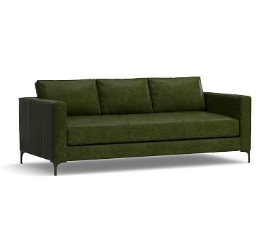 Sofa Tables Jake Leather Sofa Polyester Wrapped Cushions Leather Legacy Forest Green