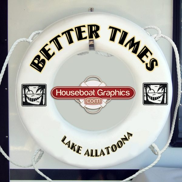 Best Custom Life Rings Or Buoys Images On Pinterest - Custom designed houseboat graphics