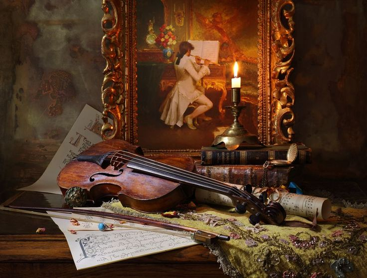 Still life with violin and painting - 3 by Andrey Morozov on 500px