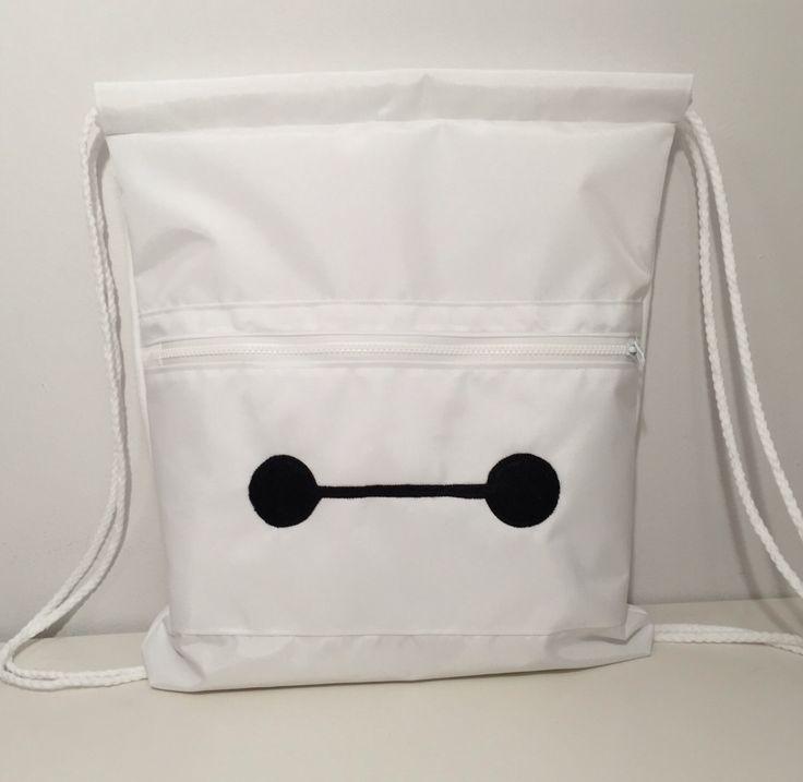 Baymax drawstring bag, Big Hero Six bag by ARPCreations on Etsy https://www.etsy.com/listing/233207669/baymax-drawstring-bag-big-hero-six-bag