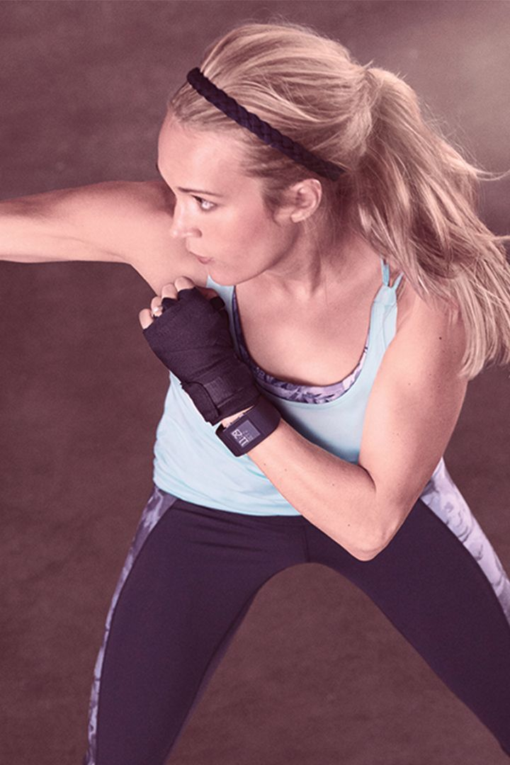 Carrie Underwood's feminine, stylish and functional activewear line you can easily transition into a pretty outfit.