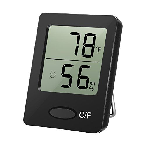 Habor Mini Portable Humidity Monitor Fast Digital Hygrometer Indoor Outdoor Thermometer with Comfort Level Indication, Table Standing, Wall…