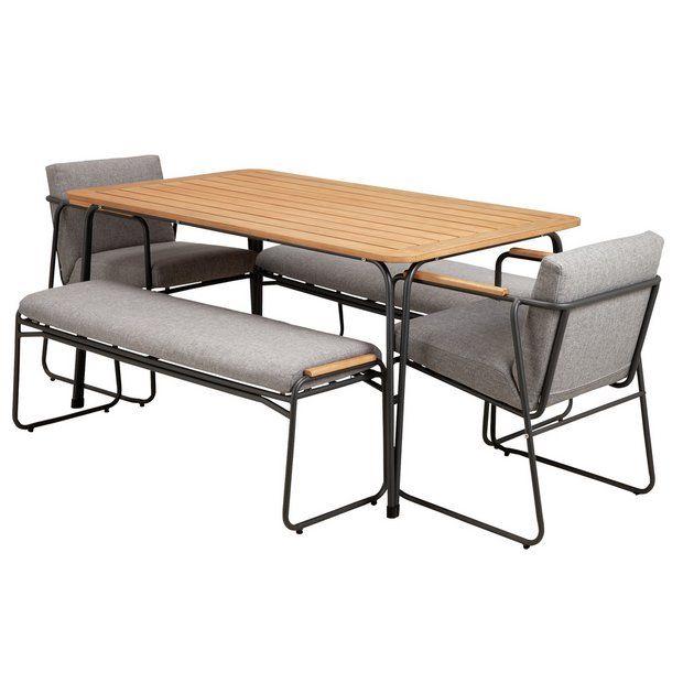 Argos Garden Dining Chairs Off 61, Argos Home Kensington Cast Aluminium 2 Seater Garden Bench