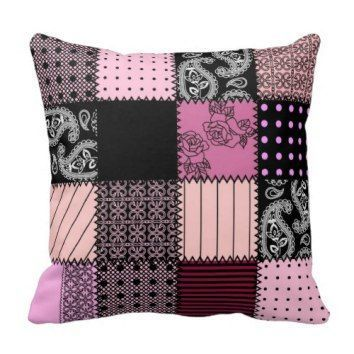 Girly Pink and Black Decorative Pillow Couch  Decorative throw pillows make any living room or family room feel warm and inviting.  I especially love the look of abstract decorative accent pillows as they add depth and texture to any space.  Additionally I love to combine both solid and pattern throw pillows to pull a look together and add some real texture to a room.  You can get all kinds of home decoration ideas by using these cute, trendy and elegant decorative throw pillows.