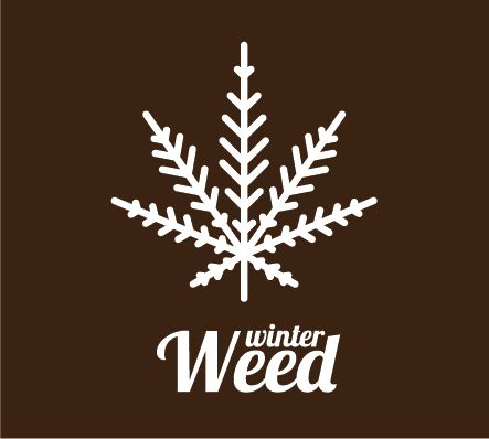 winter, weed, marijuana, snow, snowflake